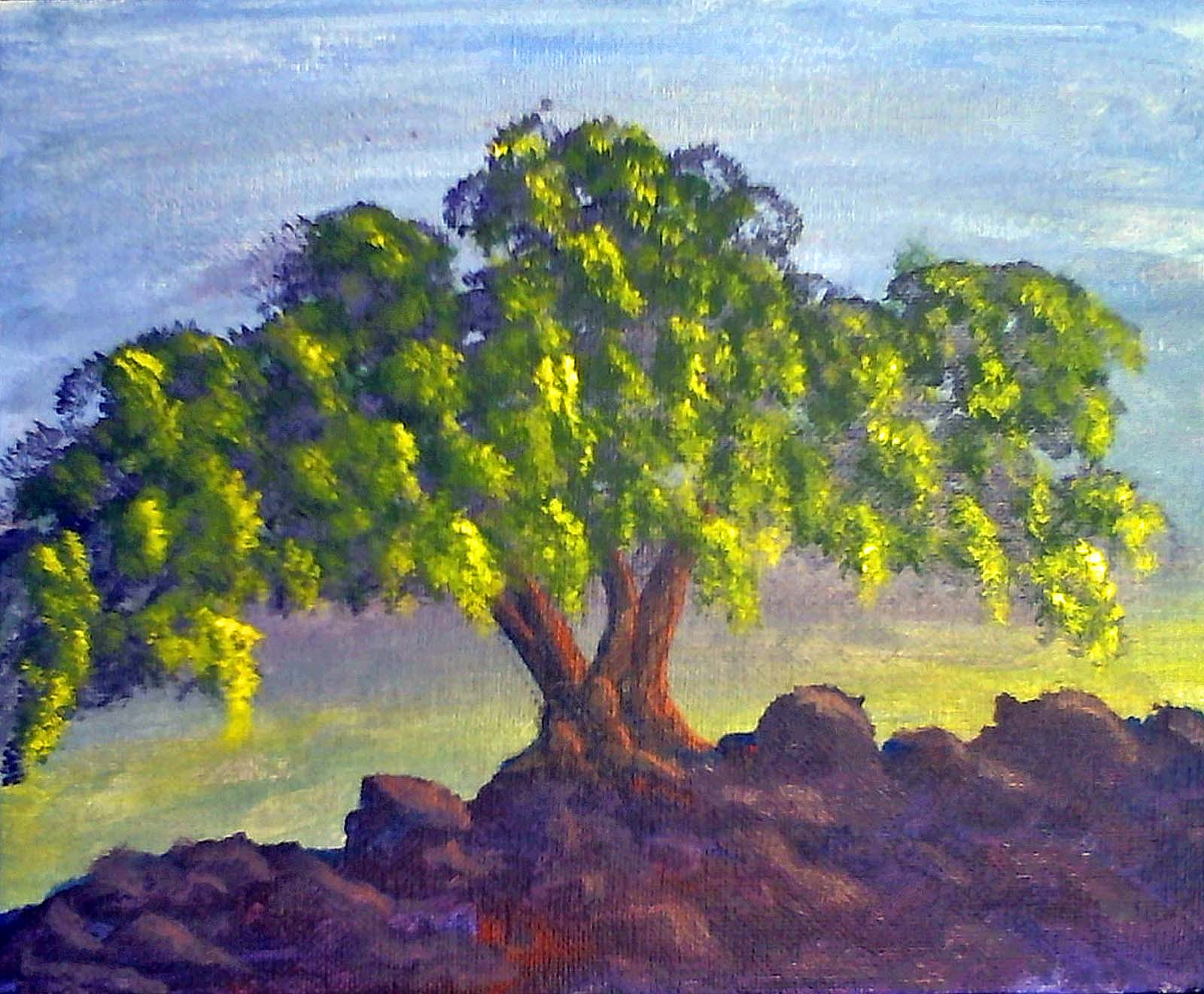 Tree landscape painting tours of imagination for Landscape trees