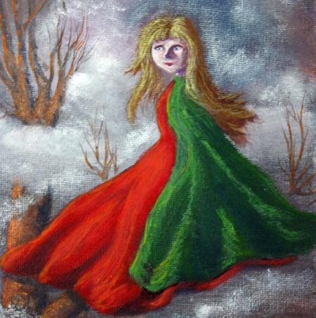 #4114003 - closeup of girl 10″x 8″ acrylic on canvas Dawn Blair ©2014
