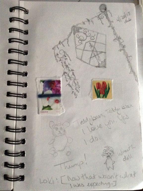 Sketchbook page April 2013 Dawn Blair ©2013