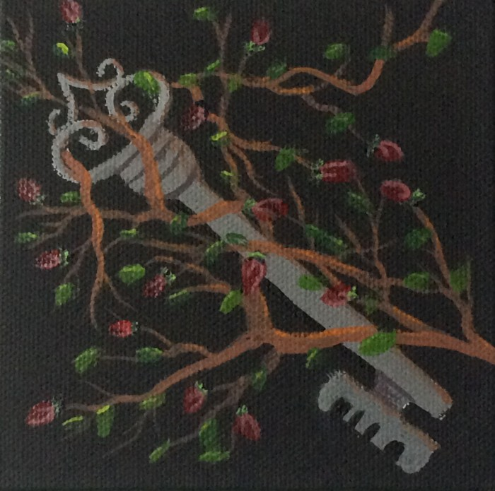Key  4×4 acrylic on canvas  Dawn Blair ©2014