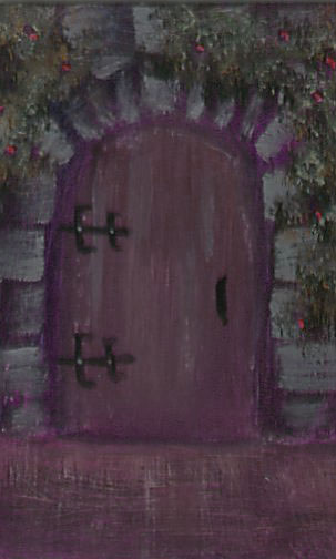 Doorway 2014-41 2.5x3.5 acrylic on bristol board Dawn Blair ©2014