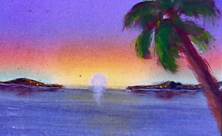 Paradise 3.5x2.5 acrylic on bristol board Dawn Blair ©2014