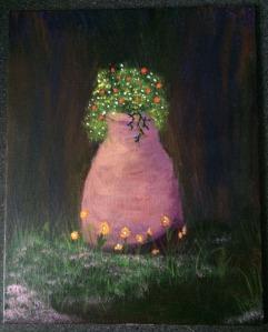 Flower Pot 8x10 acrylic on canvas Dawn Blair ©2015