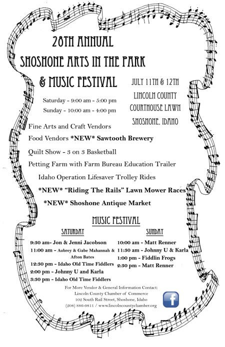 28th Annual Shoshone Arts in the Park Poster