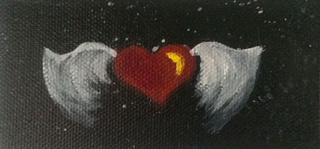 Winged Heart #4214016 4x2 on canvas Dawn Blair ©2014