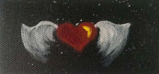 Winged Heart #4214016 4x2 on canvas Dawn Blair ©2014