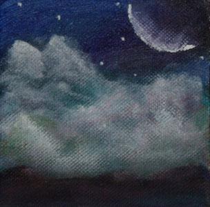 Moon #4315008 4x4 on wrapped canvas Dawn Blair ©2015