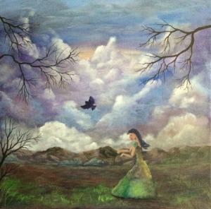 A cloudy start  Work in process Dawn Blair ©2015