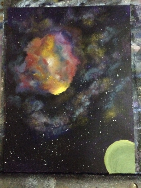 Space Nebula Work in process Dawn Blair ©2015