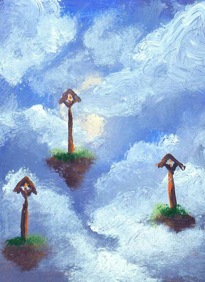 "Magical Clouds #2015-31 2.5""x3.5"" on bristol board Dawn Blair ©2015 Coming soon to eBay"
