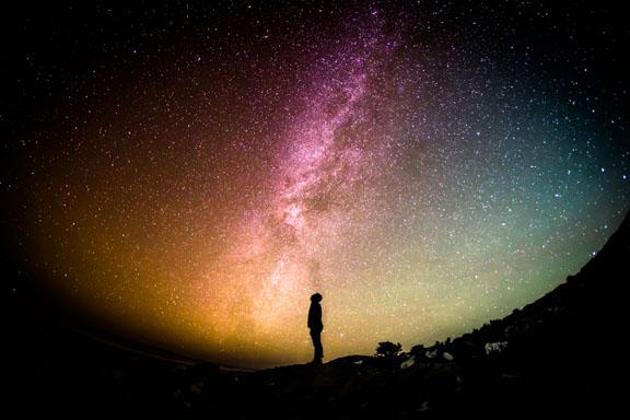 silhouette-man-stars
