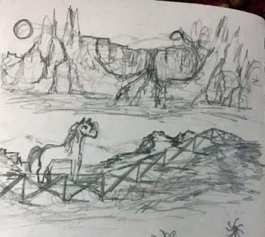 sketchbook closeup